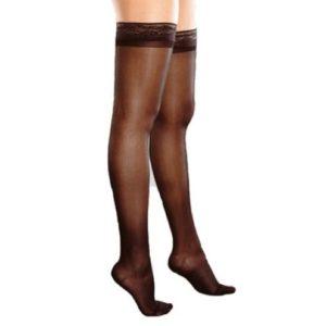 Компрессионные чулки женские, прозрачные с ажурным верхом ( 1-ый класс компрессии 18-21 мм рт. ст.)