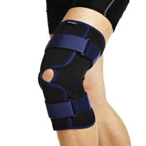 Ортез на коленный сустав, с полицентрическими шарнирами, разъемный