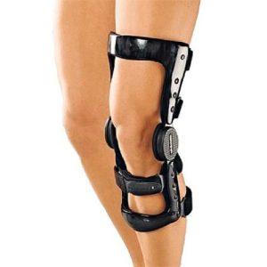 Ортез на коленный сустав, жесткий с карбоновой рамой