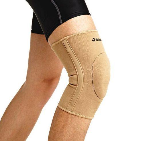 Бандаж на коленный сустав, эластичный, со спиральными ребрами жесткости