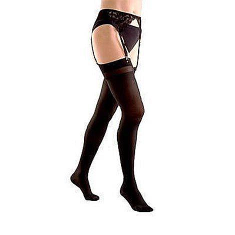 Компрессионные чулки женские для ношения с поясом, плотные (3-й класс компрессии 34-46 мм рт.ст.)