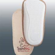 Детская ортопедическая каркасная полустелька для всех типов обуви с задником