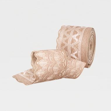 Чулки LUOMMA IDEALISTA ID-301TW TRANSPARENT 1 класс компрессии, закр. носок, полупрозр., ажурная резинка
