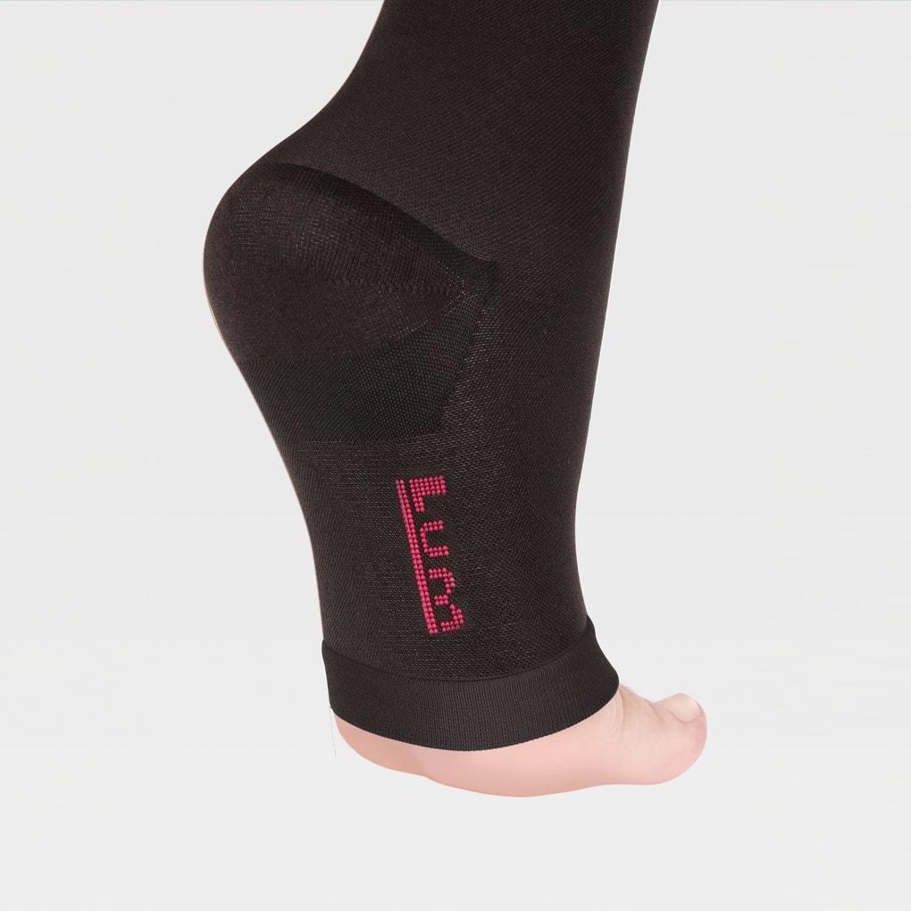 Чулки с простой резинкой на силиконовой основе с открытым носком ID-310
