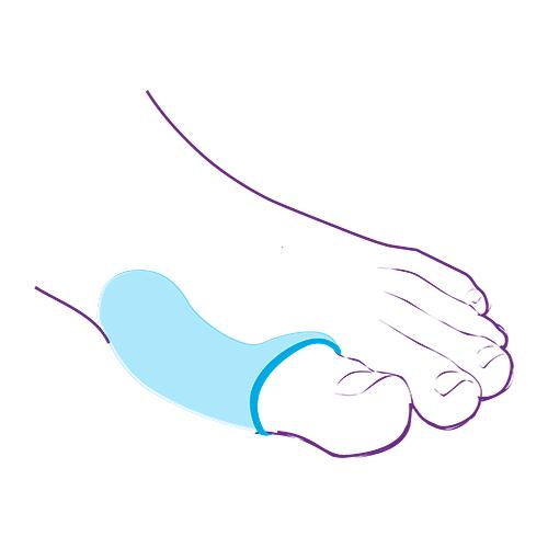 Протектор для защиты сустава большого пальца стопы СТ-37