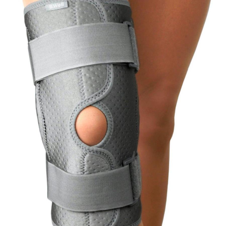 Бандаж на колено W-3320 с шарнирами и металлическими ребрами жесткости